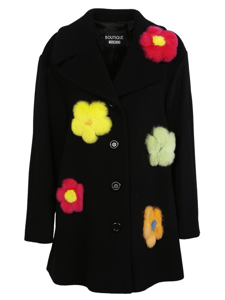 Moschino coat embellished floral