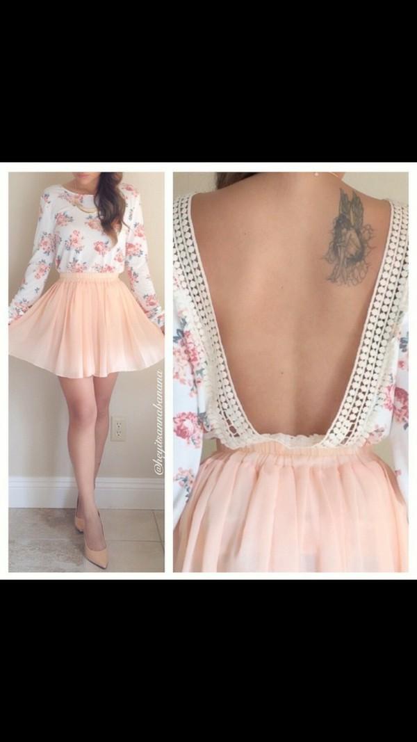 dress floral dress floral pretty beautiful cute cute dress long sleeves fashion blouse
