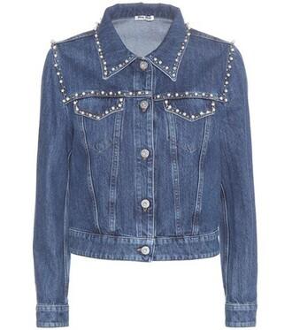 jacket denim jacket denim embellished embellished denim blue