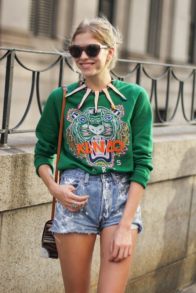 jewels necklace statement necklace kenzo green sweater aliexpress long legs high heels fashion