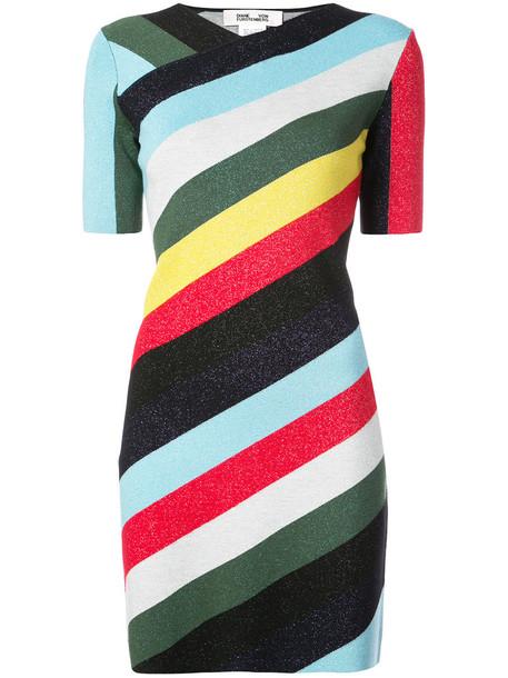 Dvf Diane Von Furstenberg dress striped dress metallic women