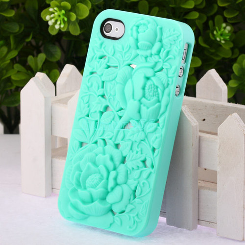 Fashion Cute 3D Sculpture Design Rose Flower Hard Case Cover for iPhone 4 4S 4G | eBay