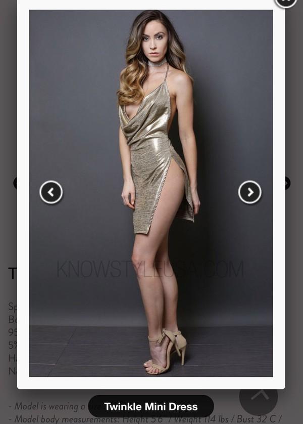 Silver Cowl Front Open Back Split Side Sequined Bodycon Dress ... 13b51f0f2