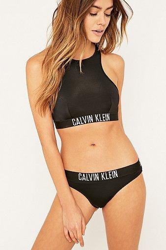 8b225b5f3c Calvin Klein Black Bralette Bikini Top - Urban Outfitters