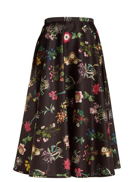 No. 21 skirt print satin black