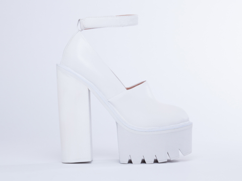 Jeffrey Campbell Scully in White White at Solestruck.com