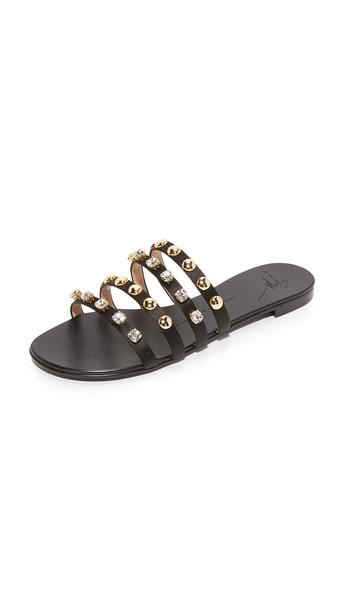 Giuseppe Zanotti Strappy Flat Sandals - Nero