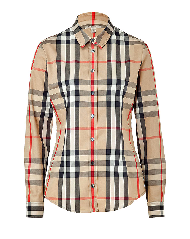 Stretch Cotton New Classic Check Shirt from BURBERRY BRIT | Luxury fashion online | STYLEBOP.com