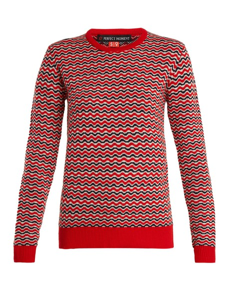 Perfect Moment sweater wool knit red
