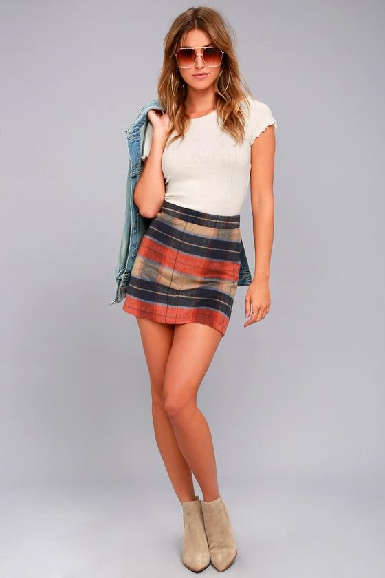 Mad for Plaid Beige Plaid Mini Skirt