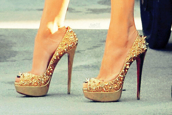 shoes only way is essex gold studs high heels stilettos glitter cheryl cole style sexy essex gold studs louboutin gold high heel
