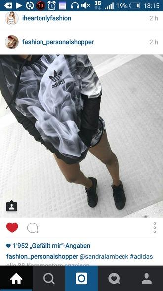 sweater adidas gym smoke print print