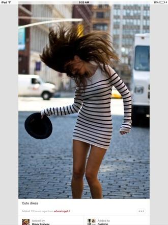 striped dress sweater dress