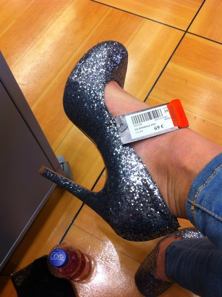 shoes glitter shiny