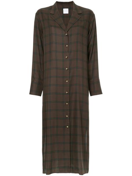Cityshop dress shirt dress women brown