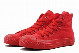 shoes converse all star completely red monochrome