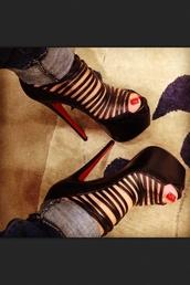 shoes,louis,heels,black,straps,cross,sumner,high heels