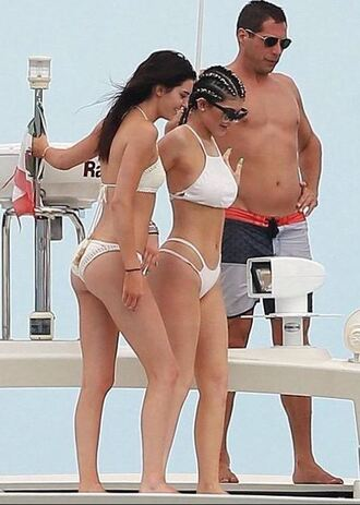 swimwear bikini white white bikini bikini top bikini bottoms kylie jenner kendall and kylie jenner kendall jenner summer