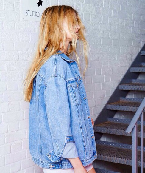 denim jacket denim jacket tumblr clothes