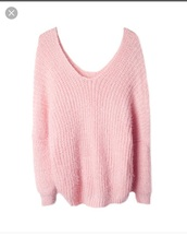 sweater,pink,mohair,v neck