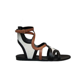 shoes balenciaga gladiators cute cute shoes brown black white brown black help me pls flat sandals