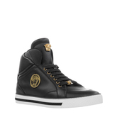 shoes,versace nappa leather mid-top sneakers