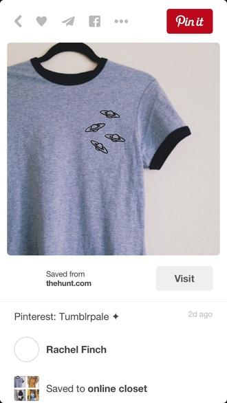 shirt grey t-shirt ufo