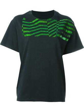 t-shirt shirt usa print blue top