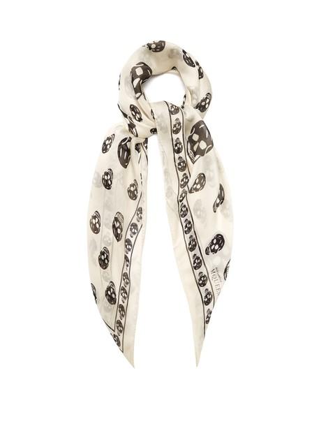 Alexander Mcqueen skull chiffon scarf print silk