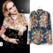 Free shipping european fashion style vintage floral print long sleeve blouses shirts for women spring/autumn 2014 hot sale tops-inblouses & shirts from apparel & accessories on aliexpress.com