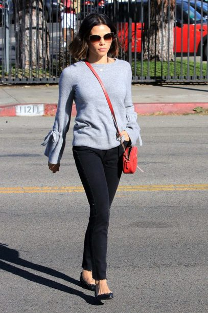 sweater pants streetstyle fall outfits top jenna dewan