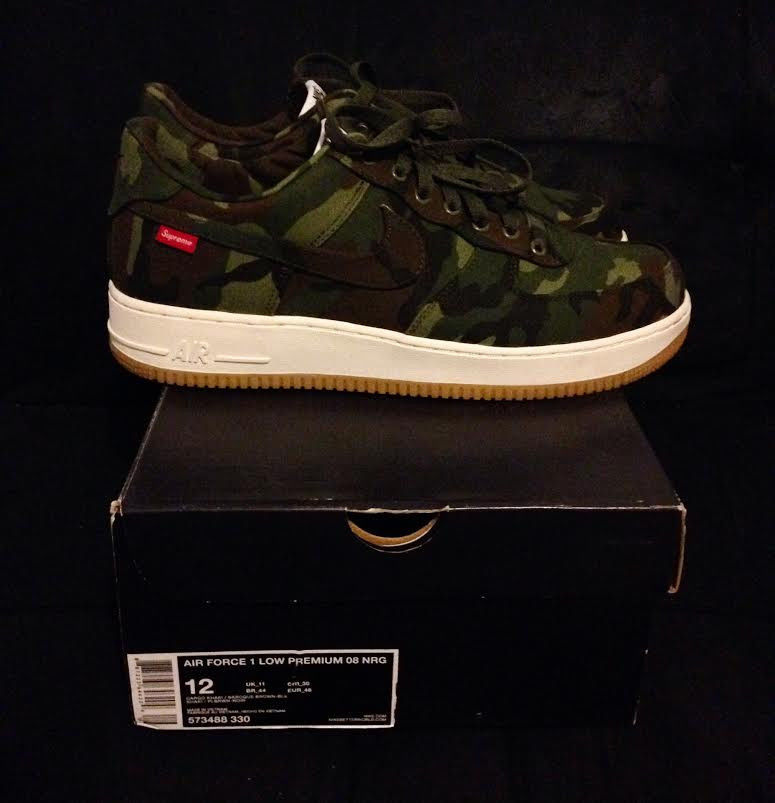 Nike Air Force 1 Low Premium NRG Supreme Camo 12 Sold Out QS CDG Box Logo XI IV | eBay