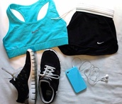 shorts,shoes,shirt,underwear,sportswear,nike sports bra turquoise,sports bra,tumblr,tumblr girl,tumblr outfit,tumblr clothes,fitness,turquoise,nike,nike sportswear,nike sports bra,nike pro sportsbra,nike pro sports bra,nike fitness,blue,light blue,earphones,tank top
