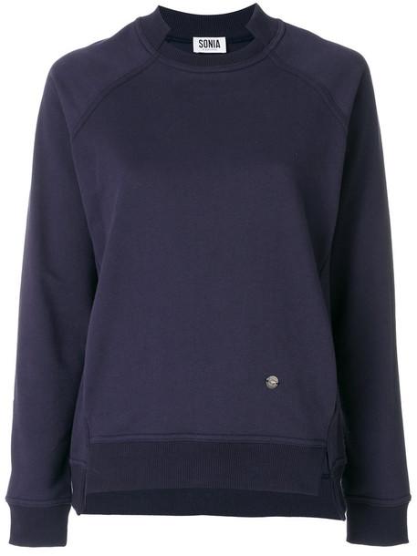 Sonia by Sonia Rykiel sweatshirt women cotton blue sweater