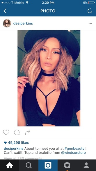 jewels jewelry choker necklace black choker necklace blogger make-up fashion style trendy black hat black top