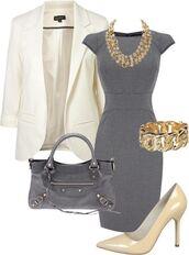 dress,office outfits,grey dress,bodycon dress