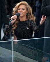 dress,beyonce,blonde hair,emerald green,black dress,long sleeve dress