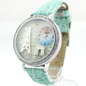 ZLCY Mint Green Polymer Clay Eiffel Tower Watch for Women: Watches: Amazon.com