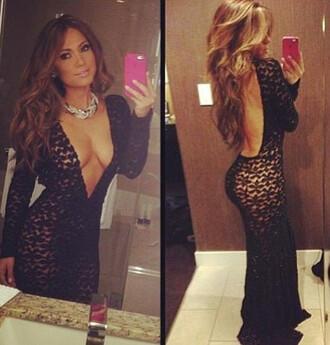dress black maxi dress backless dress bodycon dress maxi bodycon dress backless black dress mesh dress deep v-neck dress