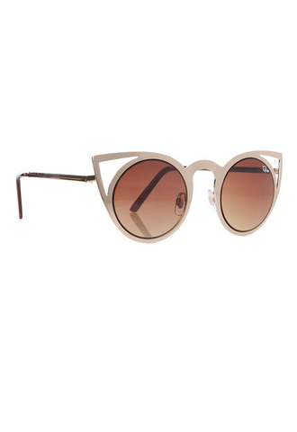 sunglasses gold cut-out tan quay australia