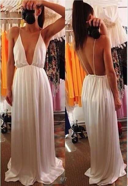Wedding Elegant Spaghetti Strap Embroidery Pleated Backless Maxi Dress Party prom dress OM225/ JH DR 713-in Apparel & Accessories on Aliexpress.com
