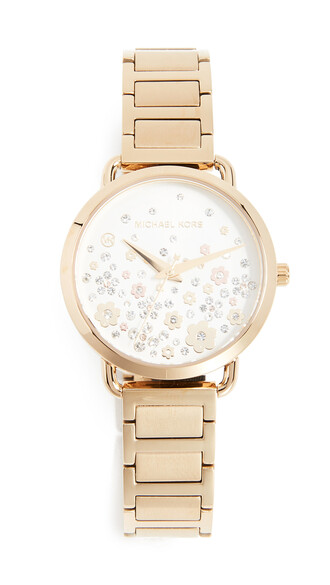 mini watch gold yellow jewels