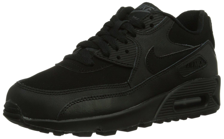 a22f196e080cb Amazon.com: Nike Air Max 90 (GS) Black Big Kids Running Shoes 307793-091  (6.5): Shoes