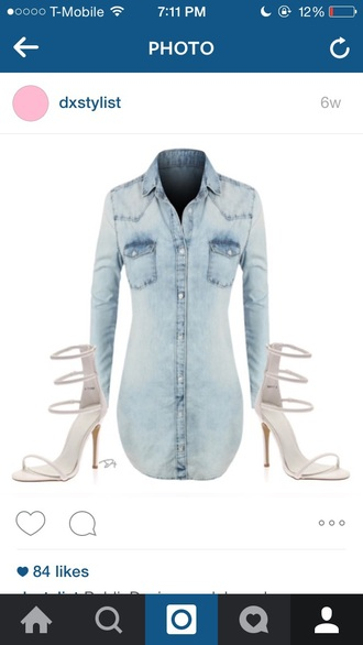 dress denim long sleeves
