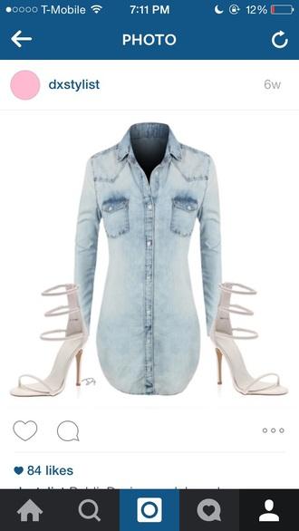dress denim long sleeves
