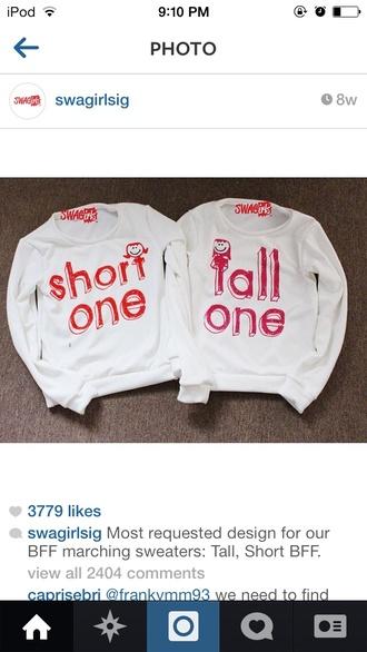 sweater bff shirts couple sweaters bff