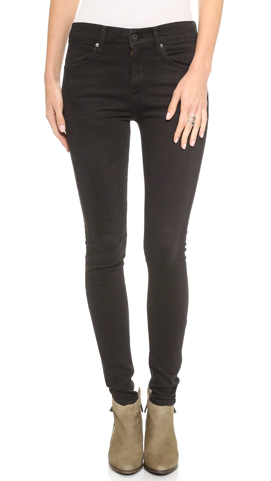 Ag adriano goldschmied the farrah high rise skinny jeans