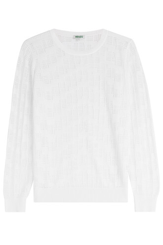 top cut-out pattern white