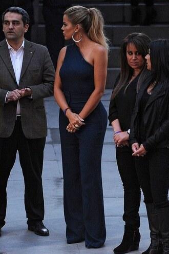 jumpsuit one shoulder khloe kardashian spring outfits