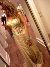 dress,gold,nude,prom,long,sparkly dress